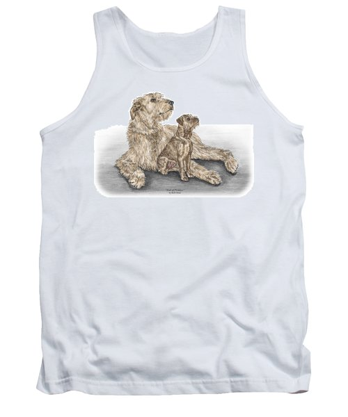 Full Of Promise - Irish Wolfhound Dog Print Color Tinted Tank Top