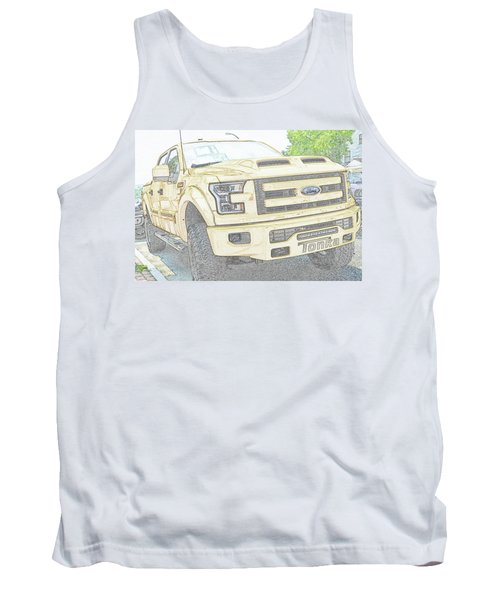 Tank Top featuring the photograph Full Sized Toy Truck by John Schneider