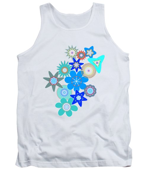 Funky Flower Pattern Tank Top by Methune Hively