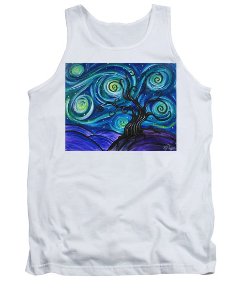 Funky Tree, Starry Night Tank Top