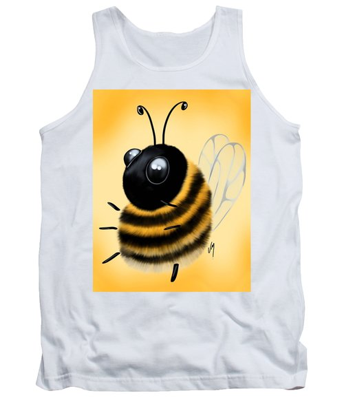 Tank Top featuring the painting Funny Bee by Veronica Minozzi