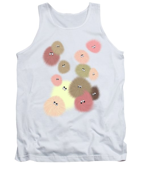 Tank Top featuring the digital art Fuzz Balls by Methune Hively