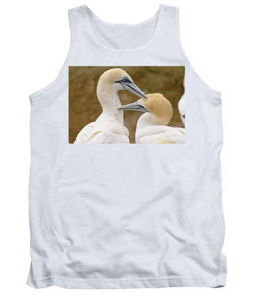 Tank Top featuring the photograph Gannet Pair 1 by Werner Padarin