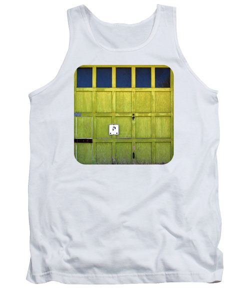 Tank Top featuring the photograph Garage Door by Ethna Gillespie