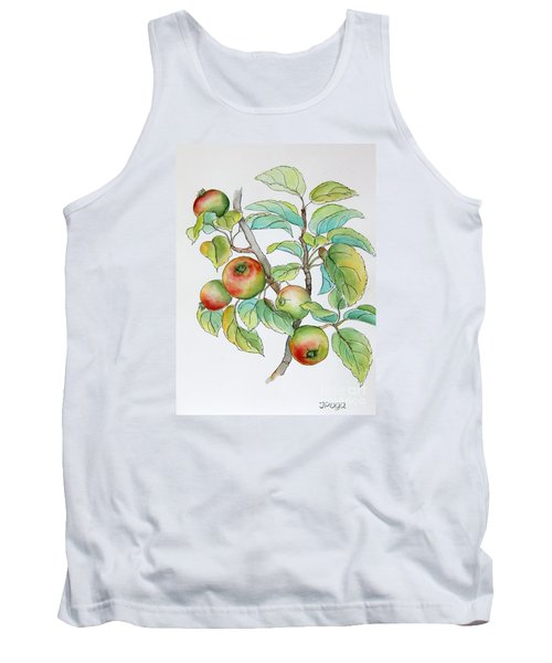 Garden Apples Sketch Tank Top by Inese Poga