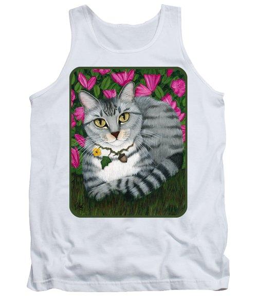 Garden Cat - Silver Tabby Cat Azaleas Tank Top