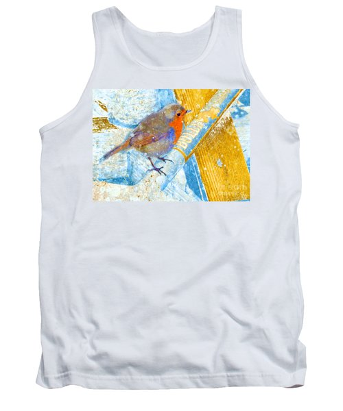 Tank Top featuring the photograph Garden Robin by LemonArt Photography