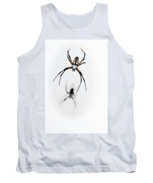 Tank Top featuring the photograph Garden Spider With Shadow by Tamyra Ayles