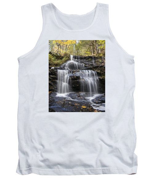 Tank Top featuring the photograph Garwin Falls, Wilton, Nh by Betty Denise