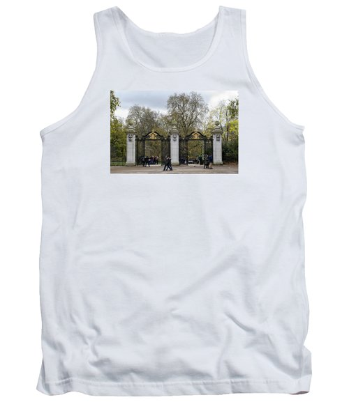 Gates To St James Park Tank Top by Shirley Mitchell