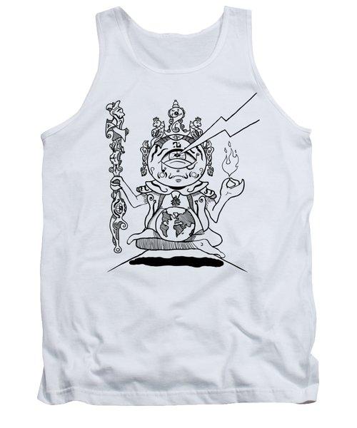 Gautama Buddha Black And White Tank Top