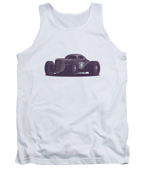 Gaz Gl1 Custom Vintage Hot Rod Classic Street Racer Car - Aqua Tank Top