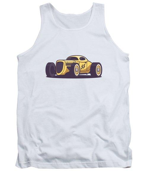 Gaz Gl1 Custom Vintage Hot Rod Classic Street Racer Car - Yellow Tank Top