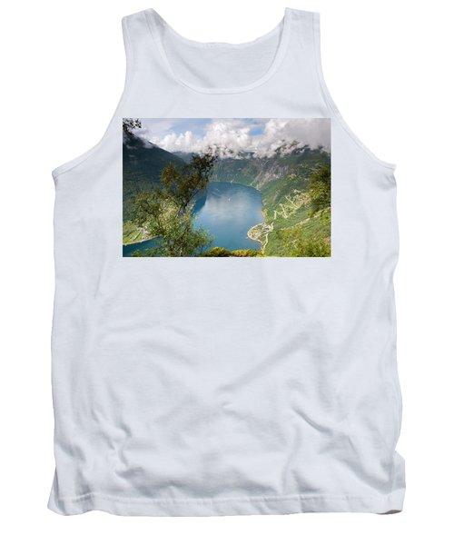 Geirangerfjord With Birch Tank Top