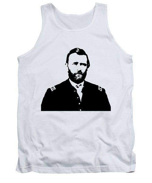 General Grant Black And White  Tank Top