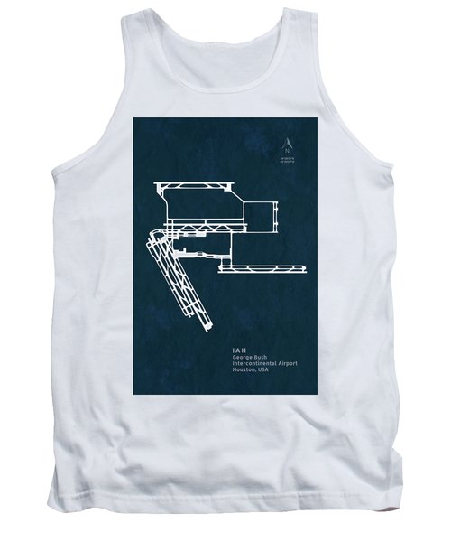 George Bush Intercontinental Airport In Houston Usa Runway Silho Tank Top