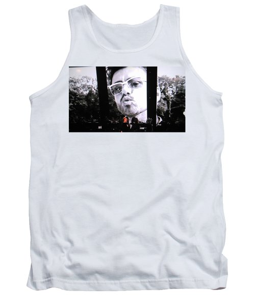 Tank Top featuring the photograph George Michael Sends A Kiss by Toni Hopper