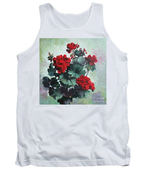 Tank Top featuring the painting Geranium by Elena Oleniuc