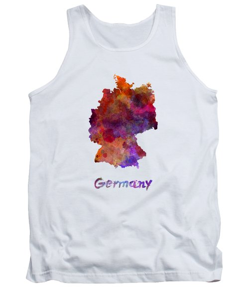 Germany In Watercolor Tank Top by Pablo Romero