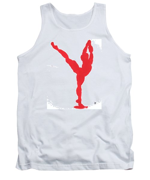 Gesture Brush Red 1 Tank Top by Shungaboy X