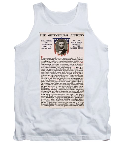 Gettysburg Address Tank Top by International  Images