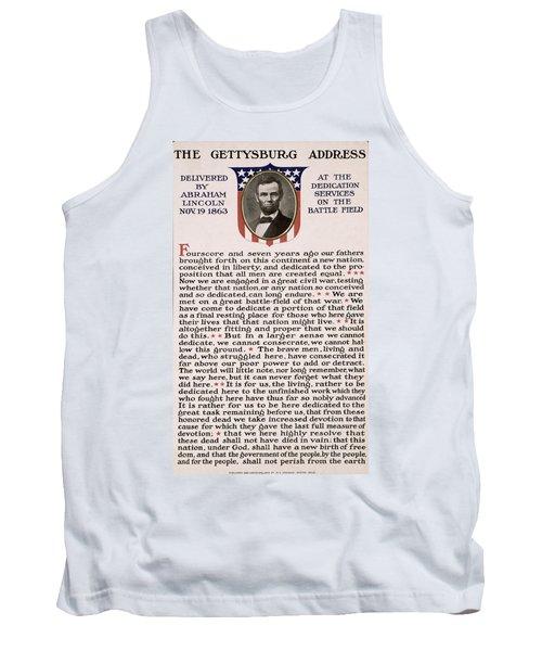 Gettysburg Address Tank Top