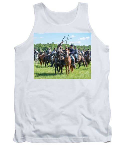 Gettysburg Cavalry Battle 7992c  Tank Top
