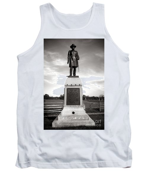 Gettysburg National Park 13th Vermont Infantry Monument Tank Top