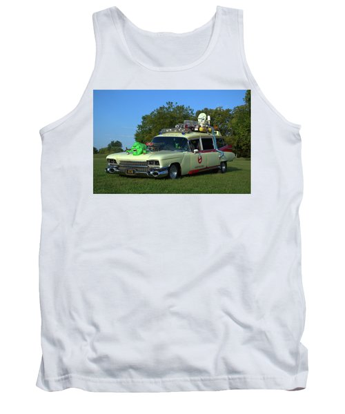 1959 Cadillac Ghostbusters Ambulance Replica Tank Top