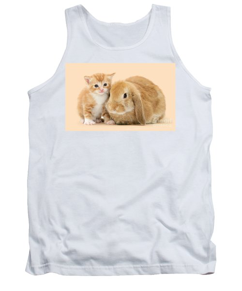 Ginger Kitten And Sandy Bunny Tank Top
