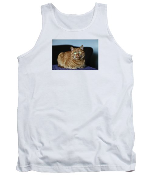 Tank Top featuring the photograph Ginger Marmalade Cat by Nareeta Martin