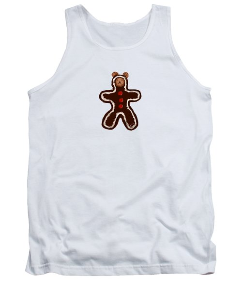 Gingerbread Teddy Tank Top by Jean Pacheco Ravinski
