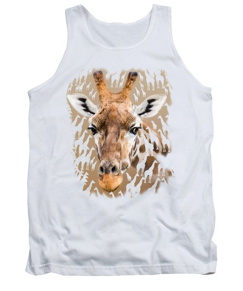 Giraffe Clothing And Wall Art Tank Top by Linsey Williams