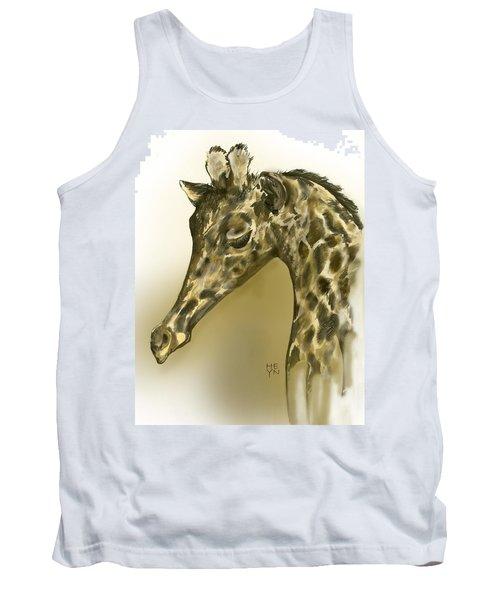 Giraffe Contemplation Tank Top