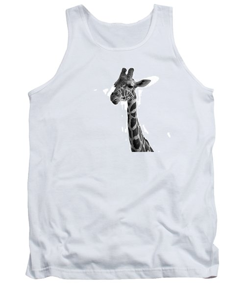 Giraffe In Black And White Tank Top