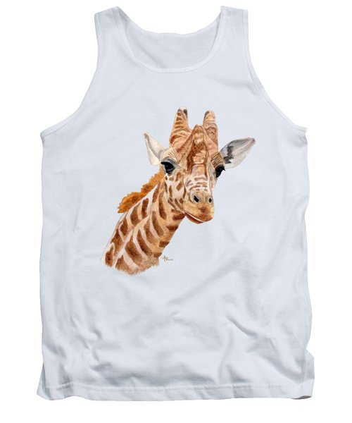 Giraffe Portrait Tank Top