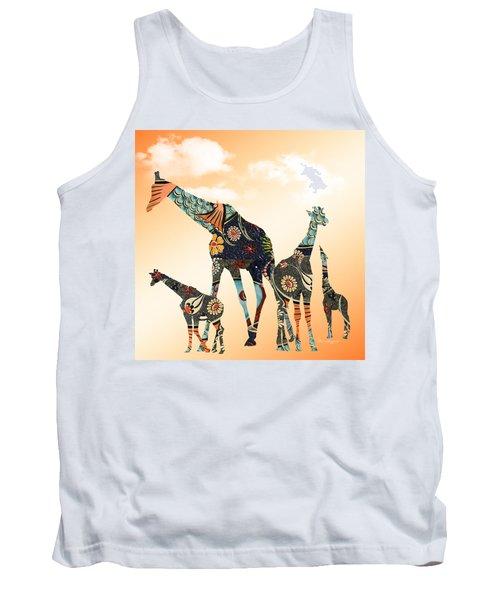 Giraffe Stroll Tank Top