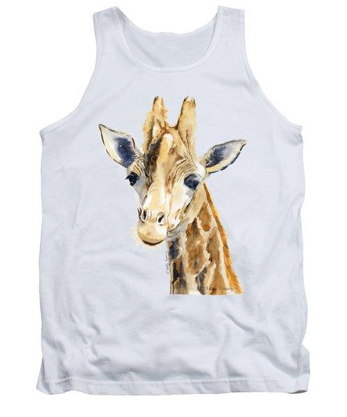 Giraffe Watercolor Tank Top