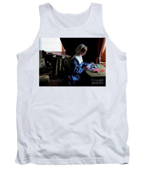 Girl Sewing Tank Top