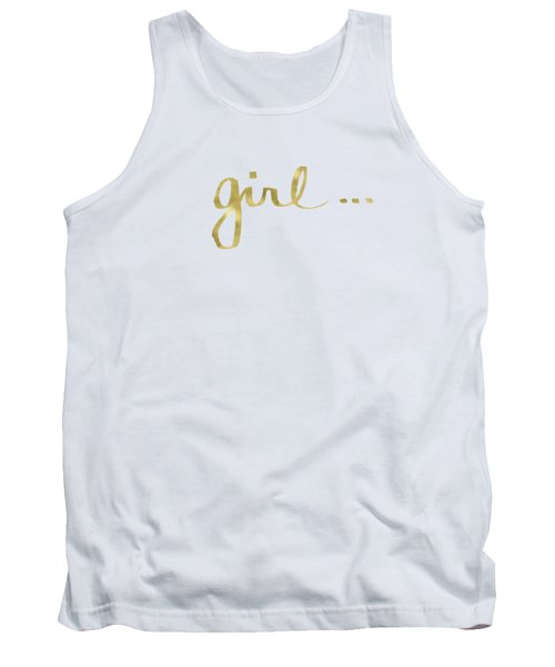Girl Talk Gold- Art By Linda Woods Tank Top