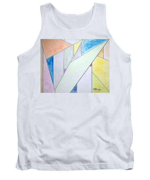 Tank Top featuring the mixed media Glass-scrapers by J R Seymour