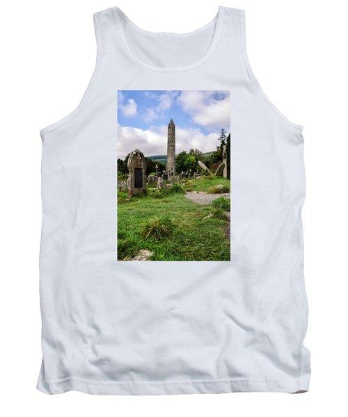 Glendalough Tower Ireland Tank Top by Martina Fagan