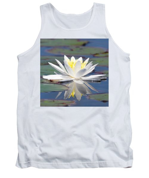 Glorious White Water Lily Tank Top