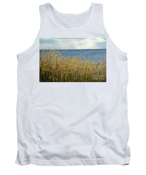Glowing Grass By The Coast Tank Top