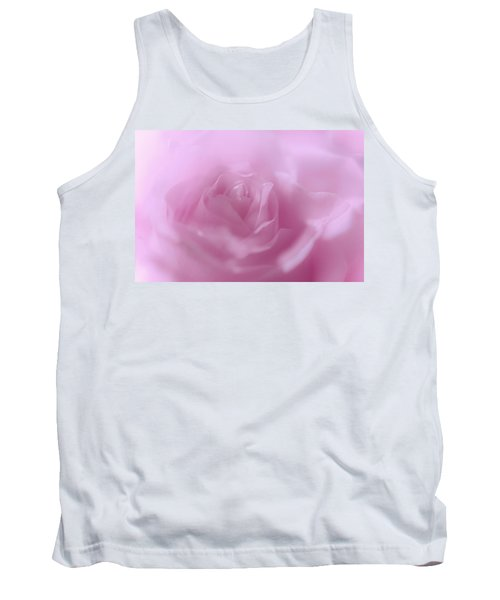 Tank Top featuring the photograph Glowing Pink Rose by Jenny Rainbow
