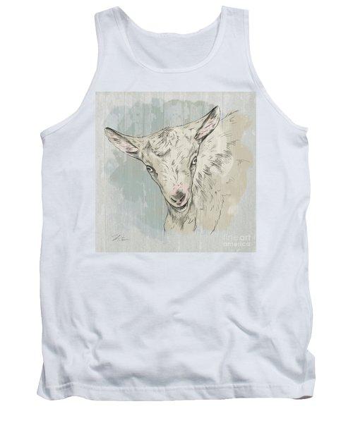 Goat Portrait-farm Animals Tank Top
