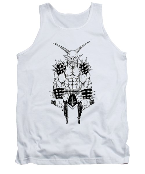 Goatlord Vengeance White Tank Top