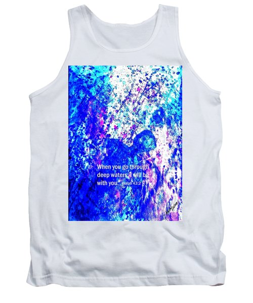 Tank Top featuring the painting Going Through Deep Waters by Hazel Holland