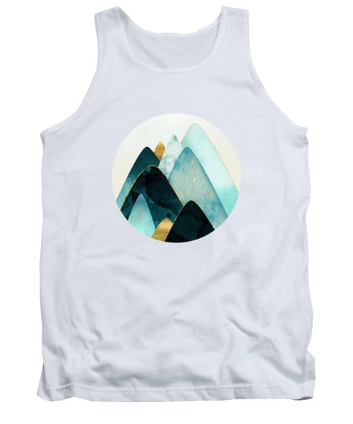 Gold And Blue Hills Tank Top