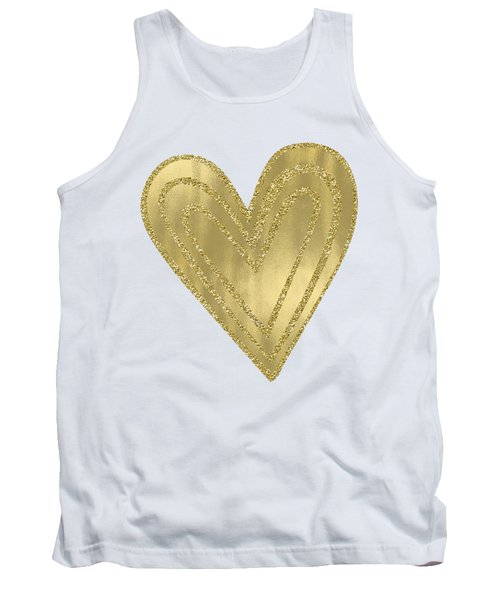 Gold Glam Heart Tank Top by P S
